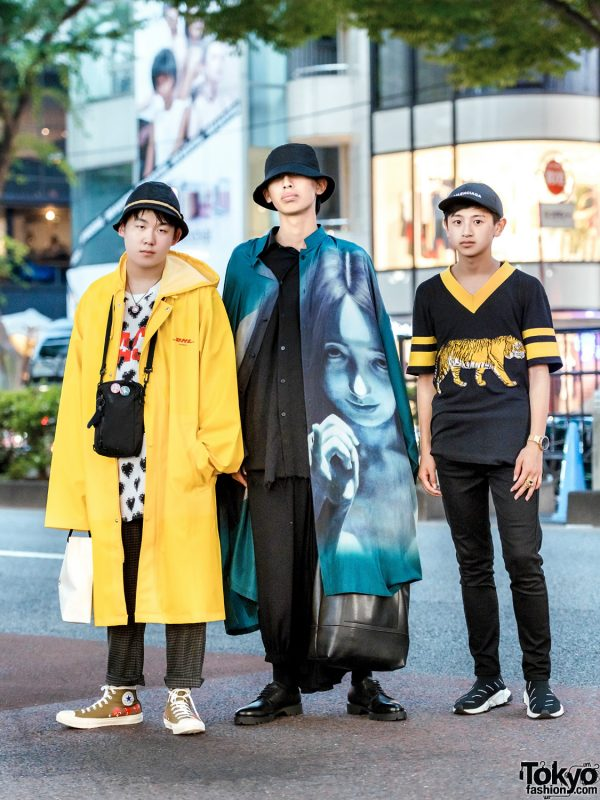 Harajuku Menswear Street Styles w/ Yohji Yamamoto, Maison Margiela, Comme des Garcons x Converse, Facetasm, Vetements, Balenciaga, Gucci & Uniqlo