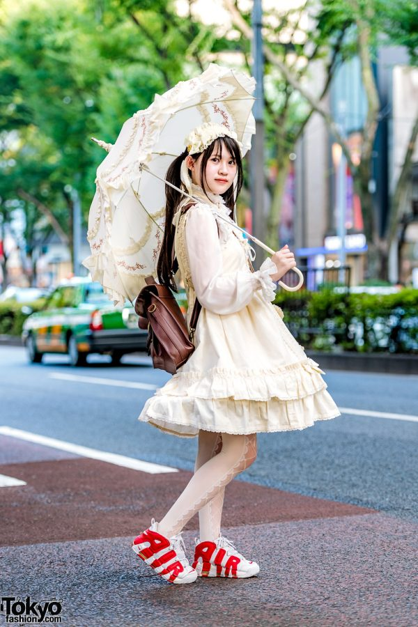 Baby The Stars Shine Lolita Fashion, Nike Air Pippin Sneakers, Parasol & Teddy Bear in Harajuku