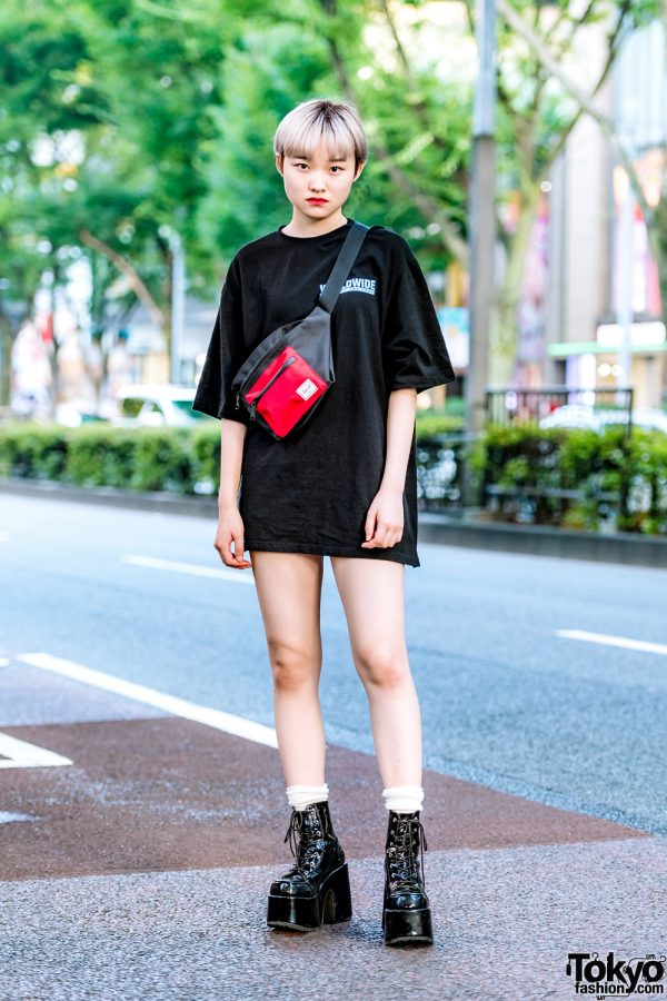 Harajuku Minimalist Street Style w/ Chuu, American Eagle, Never Mind the XU & Herschel Supply Co