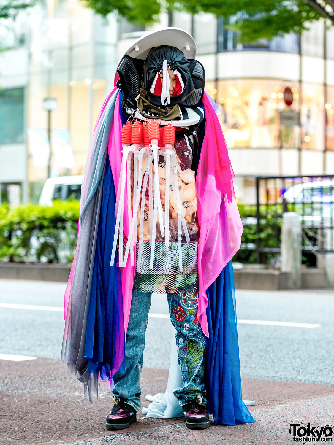 Conceptual Japanese Street Fashion W Statement Headpiece
