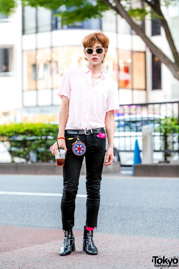 The Symbolic Tokyo Designer in Harajuku w/ John Lawrence Sullivan Outfit, Zara Pointy Boots & BlackMeans Accessories