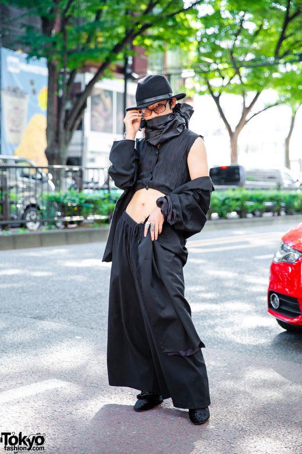 All-Black Vintage Harajuku Street Fashion w/ Lad Musician, Dolls Kill, Dog Harajuku, Sulvam & Sonia Rykiel