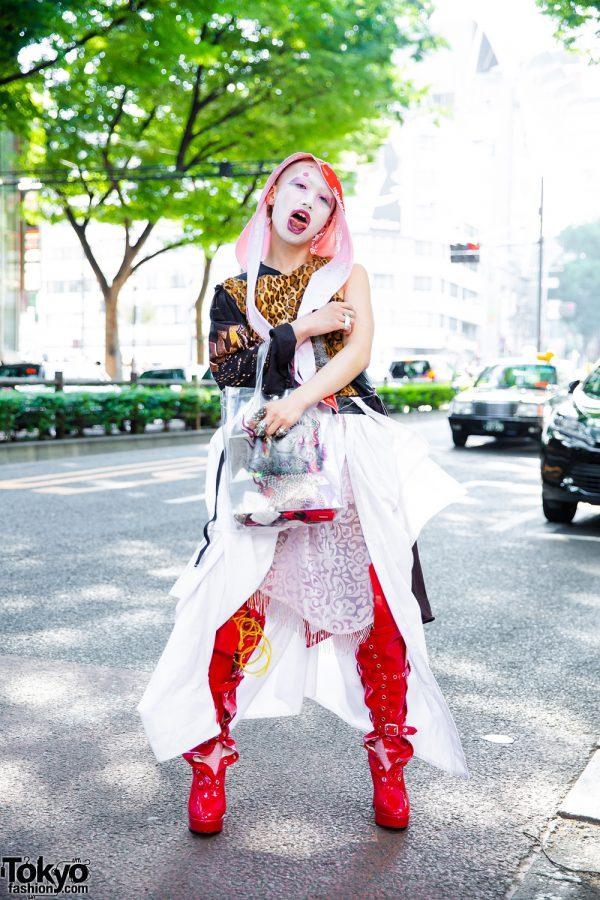 Red Vinyl Tall Boots & Avant-Garde Harajuku Vintage Street Fashion w/ Vaquera, Pleaser, Dog Harajuku & Vivienne Westwood