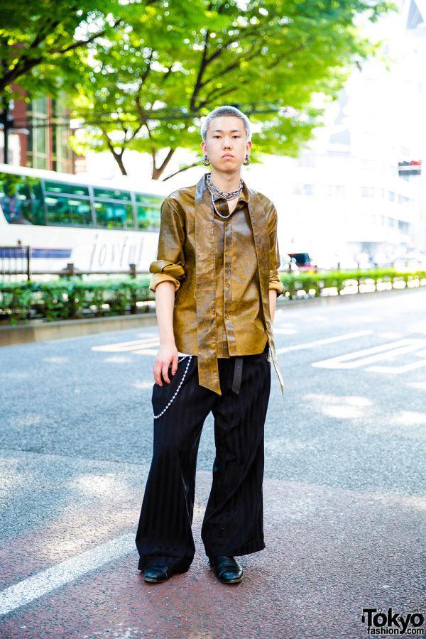 Japanese Hair Stylist in Edgy Tokyo Street Fashion w/ Barragan, M.Y.O.B., John Lawrence Sullivan & Gucci