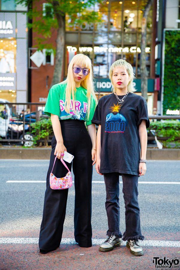 Harajuku Teens in Vintage Streetwear Styles w/ Faith Tokyo, Bubbles, Dr. Martens, Zara & Givenchy