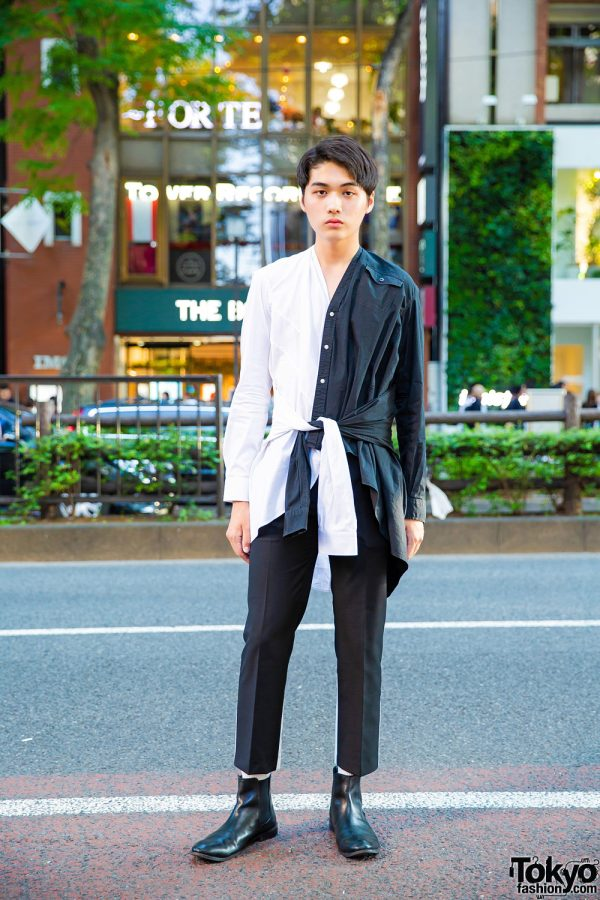 Tokyo Handmade Monochromatic Street Style w/ Zara, Azul, Empty Noir & ASOS