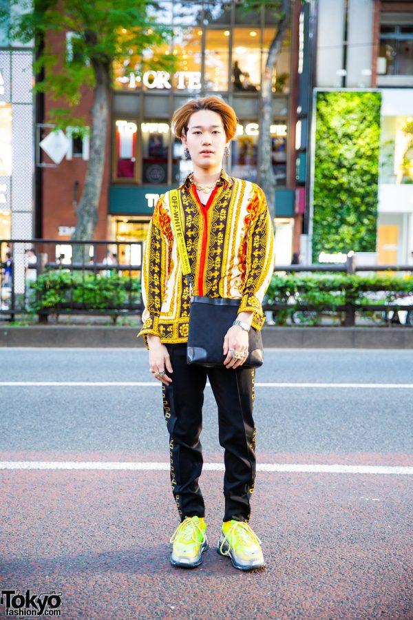 Tokyo Designer Street Fashion w/ Gianni Versace, Gucci, Off-White, Balenciaga, Versace & MM6