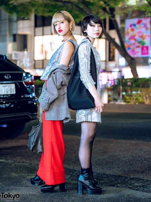 Harajuku Girls in Sequins, Platform Heels, Jean Paul Gaultier & Saint Laurent