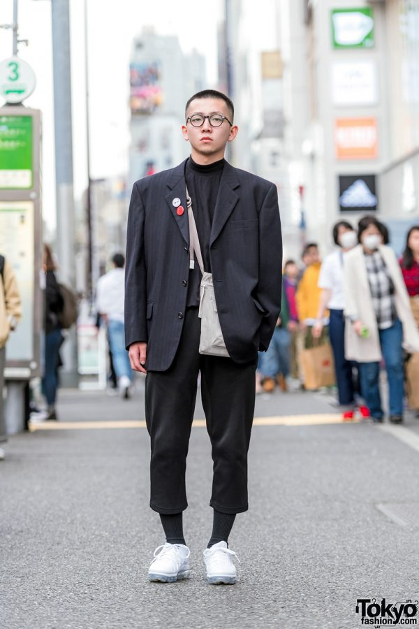 Japanese Men's Shoulder Pads Street Style w/ Comme des ...