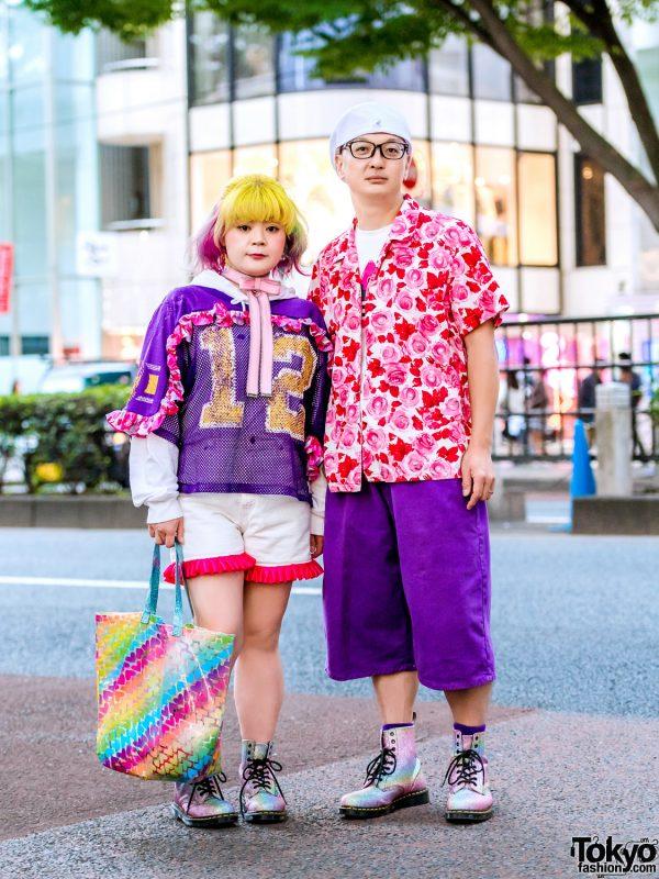 Harajuku Couple Streetwear Fashion w/ Nincompoop Capacity, Champion, Kinji, Pinnap, Adidas, Cross Colours, Kangol & Dr. Martens