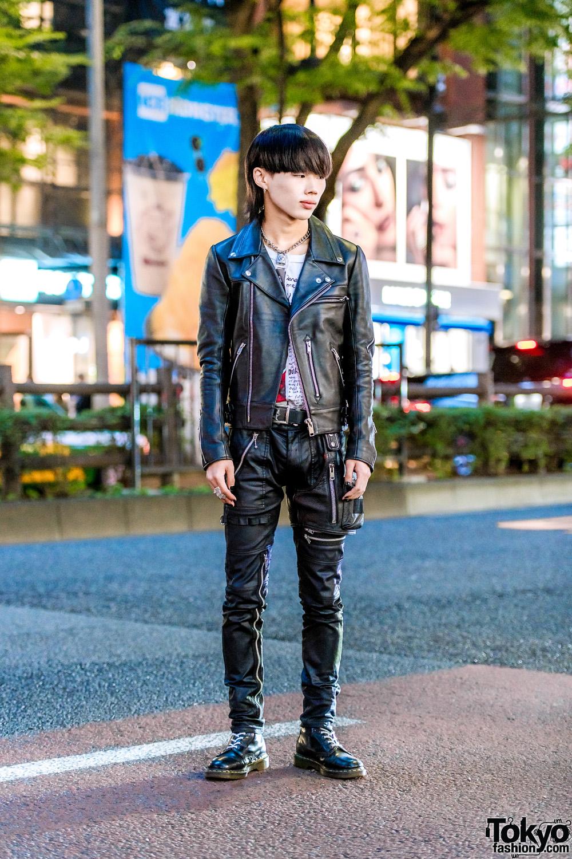 Vintage Tokyo Streetwear Style w/ Pink Hair, GU Leather