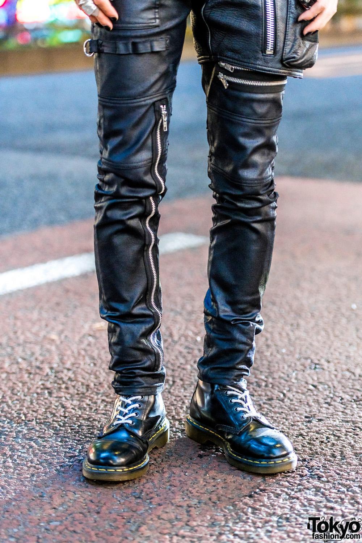 Harajuku Punk Street Style w/ 99%IS- Motorcycle Jacket