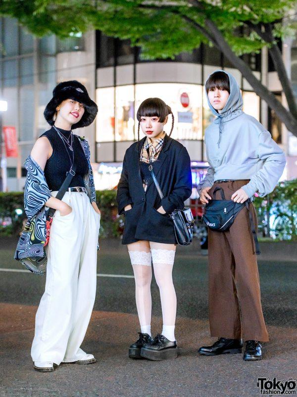 Japanese Trio's Vintage Street Styles w/ Faith Tokyo, Dr. Martens, Burberry, MYOB, APG, Nina Albu and Asics