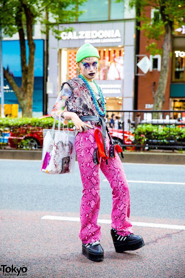 Japanese Streetwear w/ Madd Lounge, Gucci Snakeskin Pants, Vivienne Westwood, Marc Jacobs, Venom & Dog Harajuku Platform Sneakers