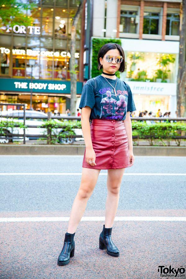 Casual Streetwear in Harajuku w/ Vintage Chain & Liquor T-Shirt, DKGirl, Bershka, H&M, Sonia Rykiel & Forever21