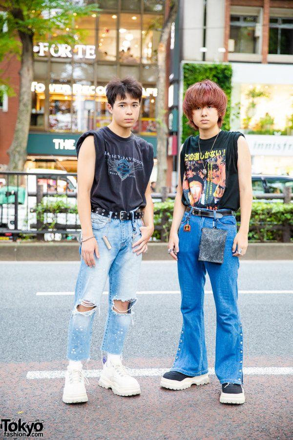 Harajuku Guys in Vintage & Handmade Street Fashion w/ Dog Harajuku, Kinji, Eytys, Ambush & Vivienne Westwood