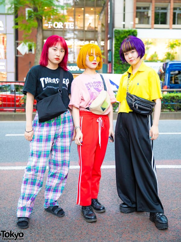 Harajuku Girls Street Styles w/ Colorful Hair, Thrasher, Right-On, Faith Tokyo, Oh Pearl, Gallerie, Yosuke & Vivienne Westwood