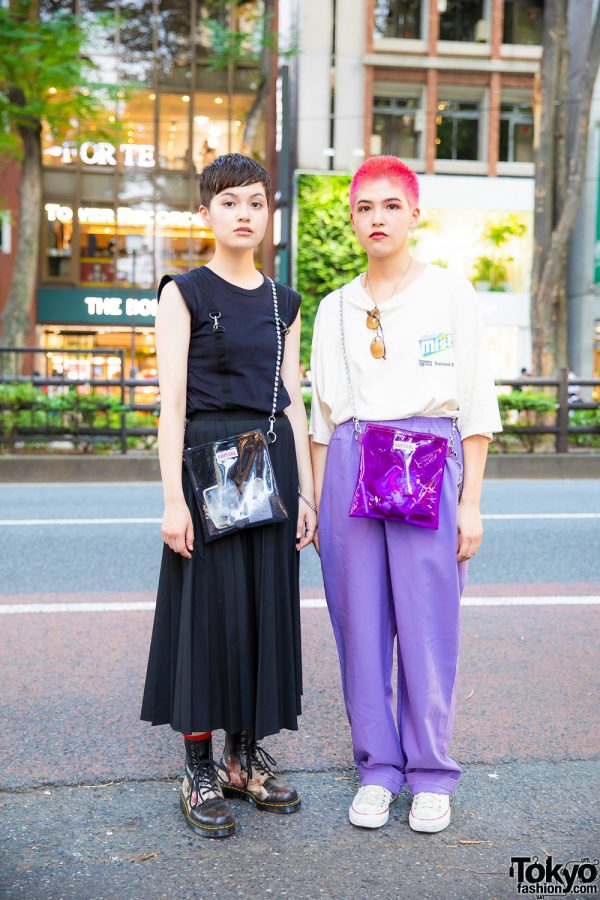 Harajuku Staffers Street Styles w/ Jill Stuart, UNIQLO, Dr. Martens, Converse, Chicago & Oh Pearl See-Through Slings