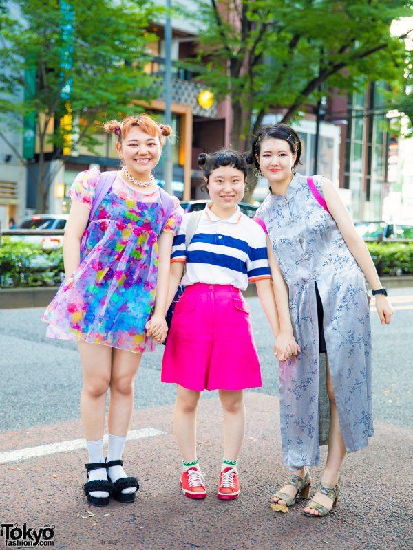 Tokyo Vintage & Hand-Me-Down Street Styles w/ GU, Claire's, 6%DOKIDOKI, Pameo Pose & Cath Kidston
