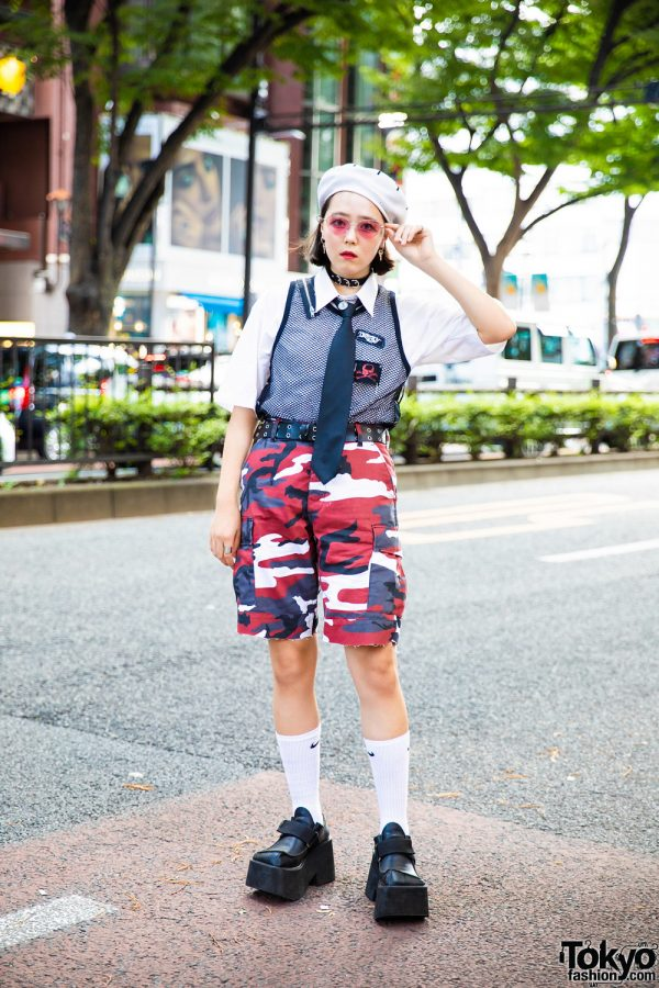 Harajuku Girl in Vintage Streetwear Style w/ (Me) & Another Youth