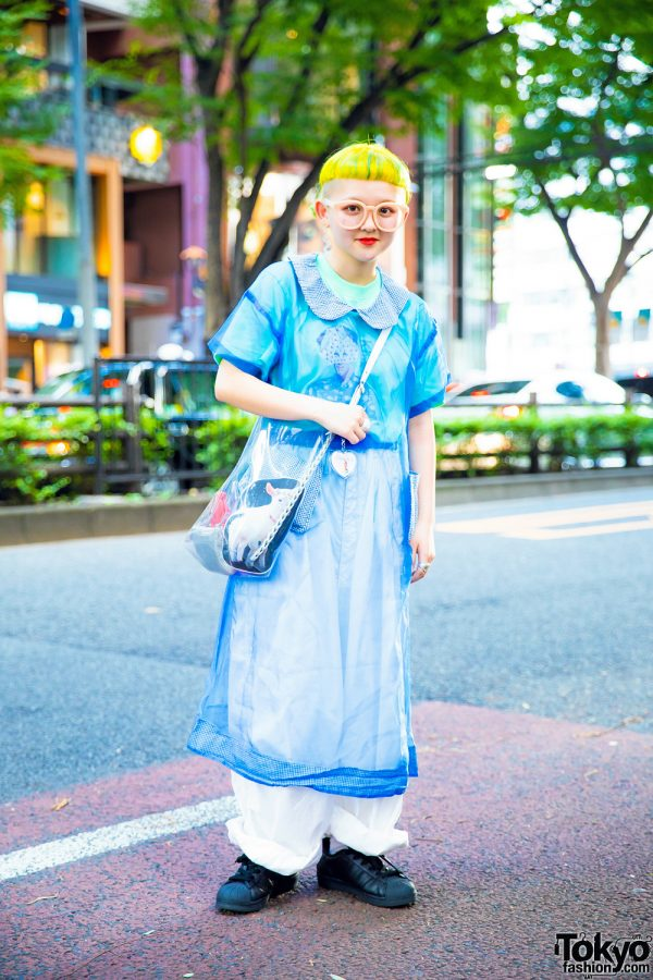 Short Yellow Hairstyle & Vintage Streetwear w/ Tricot Comme des Garcons, Proef, Hakuro & Sunday Morning Store