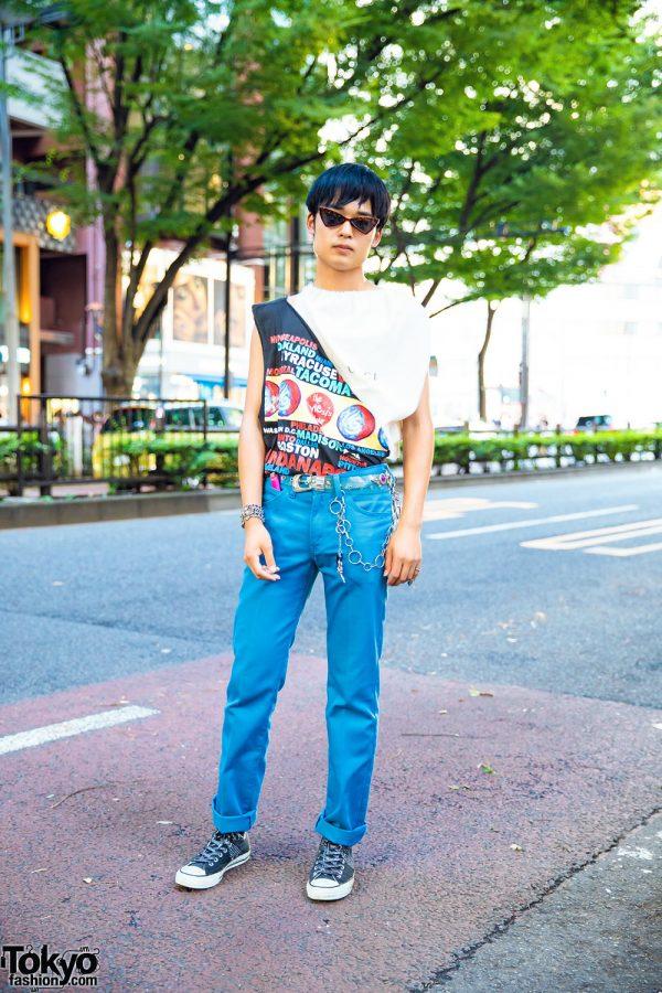 Triangle Sunglasses & Remake Harajuku Style
