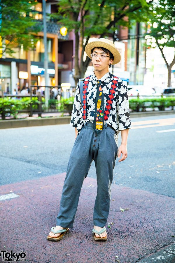 Japanese Chef in Vintage & Handmade Street Style