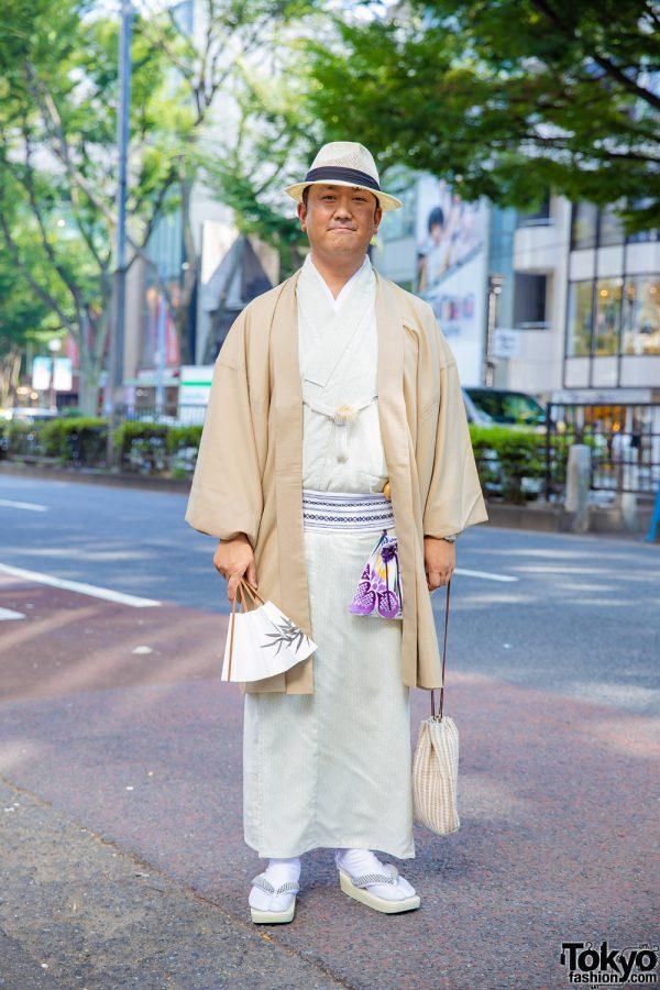 Men's Japanese Kimono Street Style from Samurai Ginza