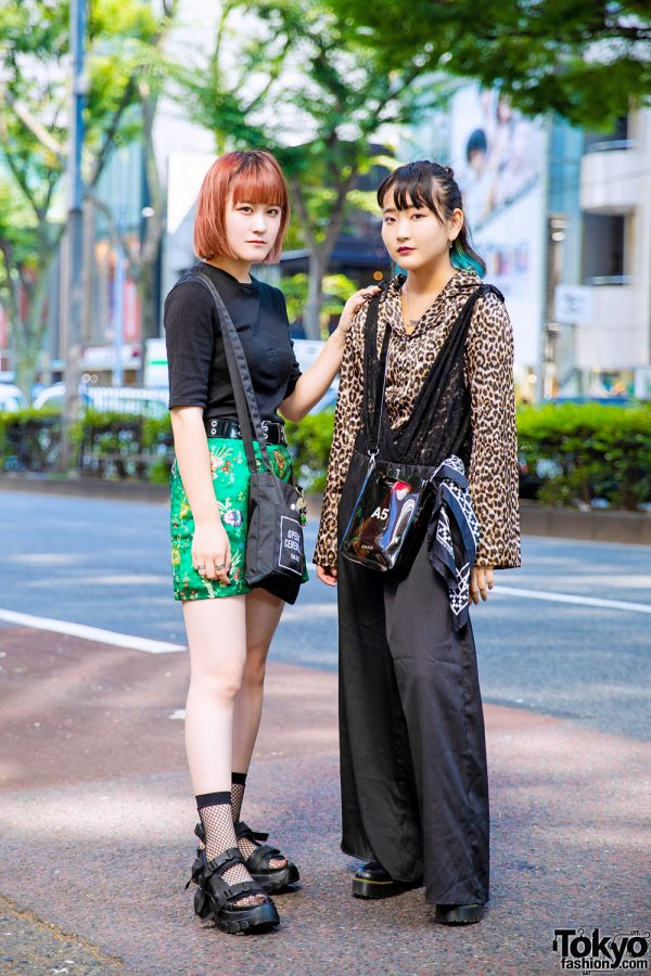 Leopard Print Top & Floral Silk Skirt Harajuku Street Styles w/ Bubbles, NaNa-NaNa, Oh Pearl, Never Mind the XU, GU, Opening Ceremony, Open The Door & Vivienne Westwood
