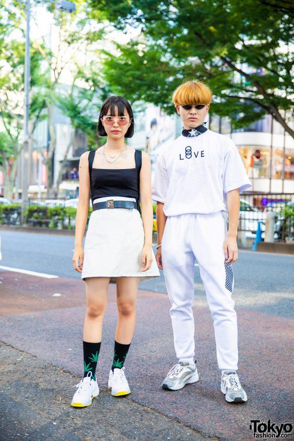 Harajuku Duo's Monochrome Streetwear Style w/ Agnes B, H&M, Zara, Prada, New Balance x N.Hoolywood, Faith Tokyo, G&B, Advan & Kudos