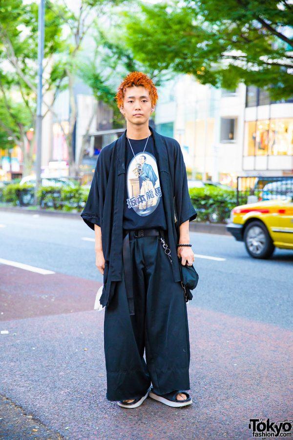 Harajuku Guy in All Black Vintage Streetwear Style w/ Y-3, Mihara Yasuhiro, Gucci & Off-White