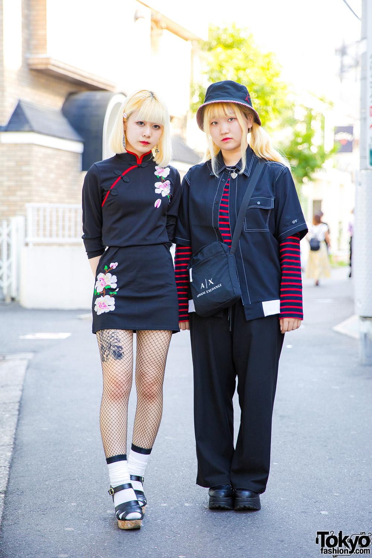 reputable site 8eb73 5c5de Japanese Teens in Color-Coordinated Street Styles w  OY, Zara, Dog  Harajuku, Jordan Bucket Hat   Armani Crossbody Bag