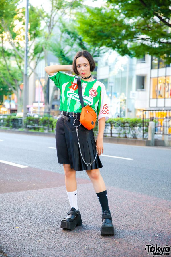 Japanese Eclectic Streetwear w/ Vintage Futsal Shirt, Dickies, Tender Person, Nike, Another Youth & Faith Tokyo Crossbody Bag