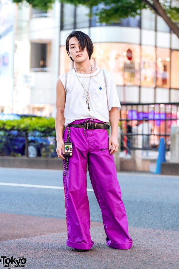 Japanese Remake Streetwear Style w/ Uniqlo Doraemon Shirt, Palm Angels, Dr. Martens, Utsurundesu & Gosha Rubchinskiy