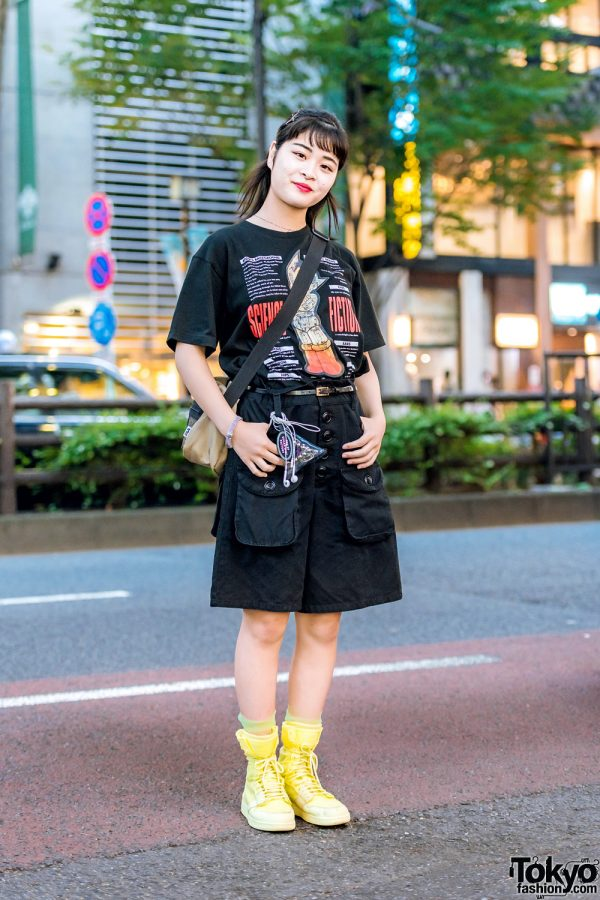 Harajuku Streetwear w/ San To Nibun No Ichi Astro Boy T-Shirt, Kinji, RRR By Sugar Spot Factory, FILA & Nike Neon Sneakers