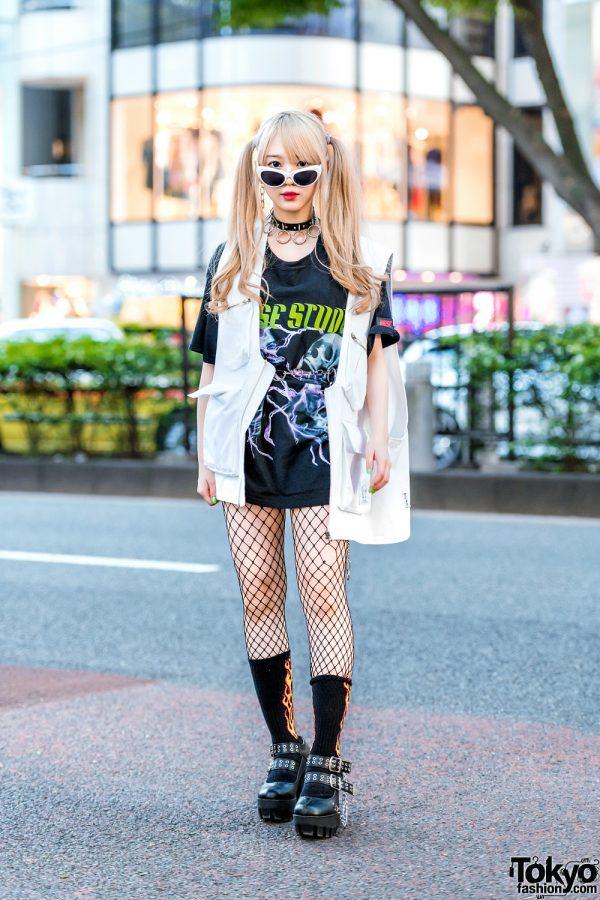 Twin-Tailed Harajuku Model Street Style w/ Ajo AjoByAjo, Never Mind the XU, YRU, Kol Me Baby & WEGO