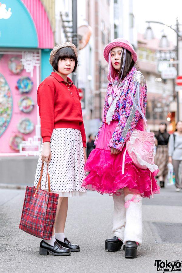 Colorful Harajuku Streetwear Styles w/ Anime Print Blazer, Tanpopo House, Kobinai, G2? Ruffle Skirt & Handmade Fashion