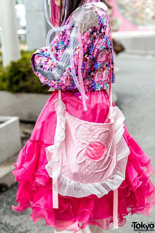 Colorful Harajuku Streetwear Styles W Anime Print Blazer