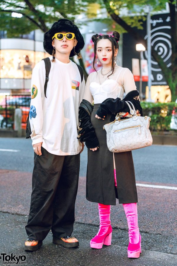 Fresh Anti Youth Producers in Harajuku Street Styles w/ MYOB, UNIF Flame Shoes, GVGV Boots & Miu Miu Handbag