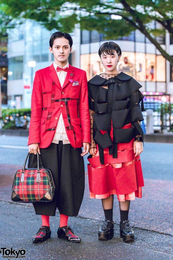 Red & Black Comme des Garcons Tokyo Streetwear Styles