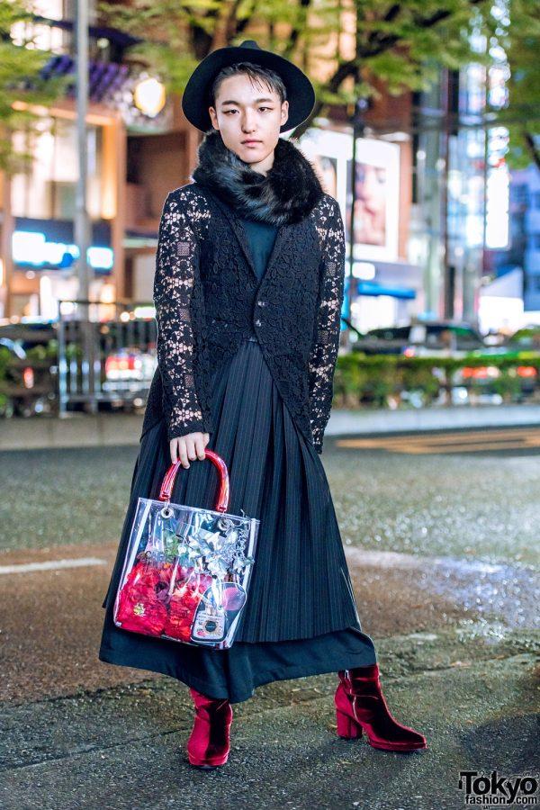 All Black Chic Streetwear in Harajuku w/ HT Maniac, Studious, Ground Y, Banal Chic Bizarre & Christian Dada Tote