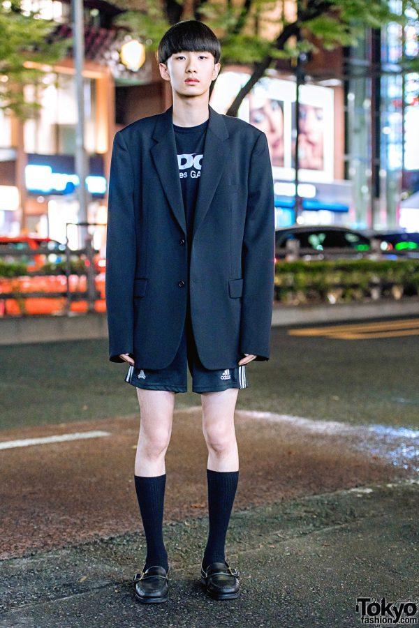 Minimalist All Black Street Style w/ Comme des Garcons, Adidas & Ralph Lauren