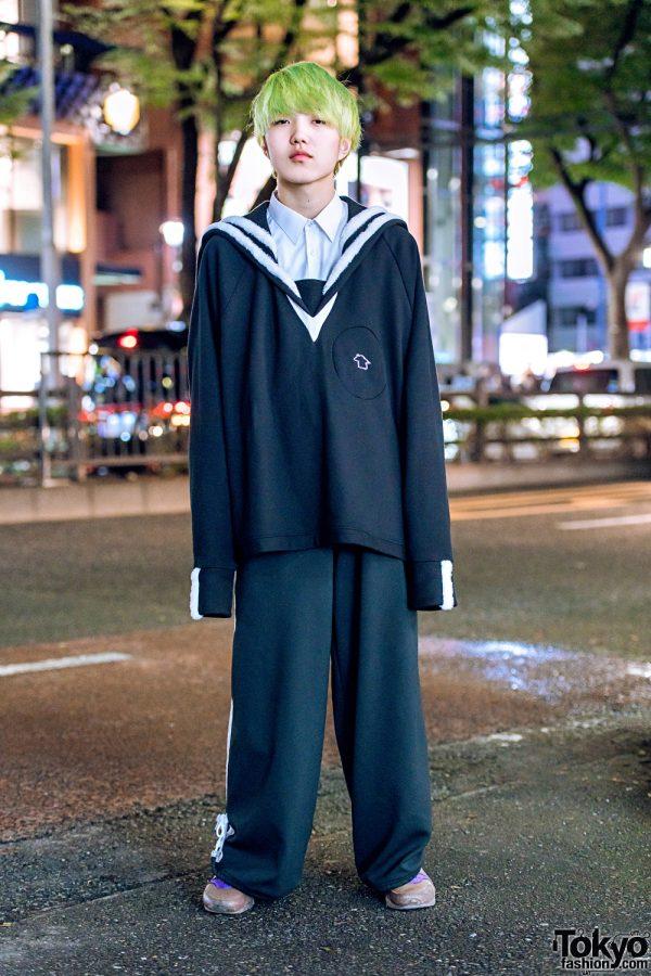 Harajuku Guy in Casual Vintage Streetwear w/ Balmung, NIIMI & Yoko Fuchigami