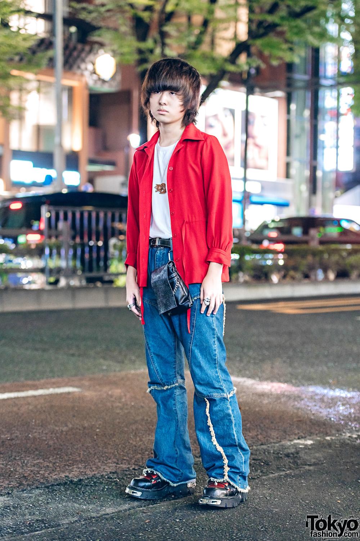 Tokyo Casual Vintage Streetwear Style w/ Yves Saint Laurent & New Rock