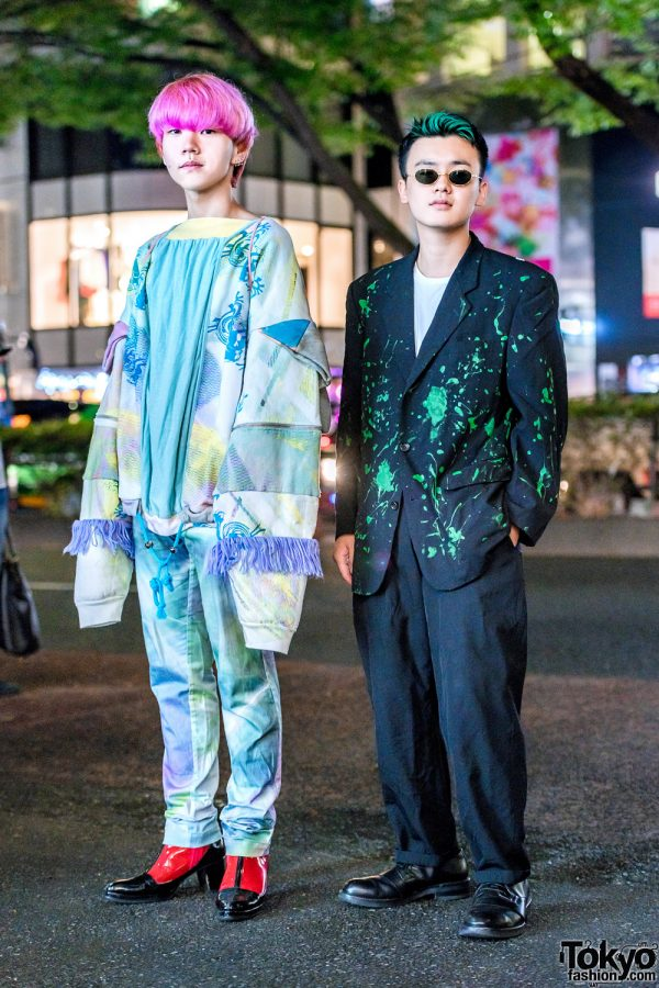 Paint Splatter & Pastel Japanese Street Styles w/ Bodysong, Ohta, Issey Miyake Pleats Please, Comme des Garcons Homme, Y's For Men & Marni