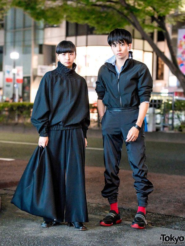 Monochrome Street Styles w/ Prada, Hermes, Comuse, Kujaku, Goto Asato, You Ozeki, MM6 Maison Margiela & Ashinaga Ojisan