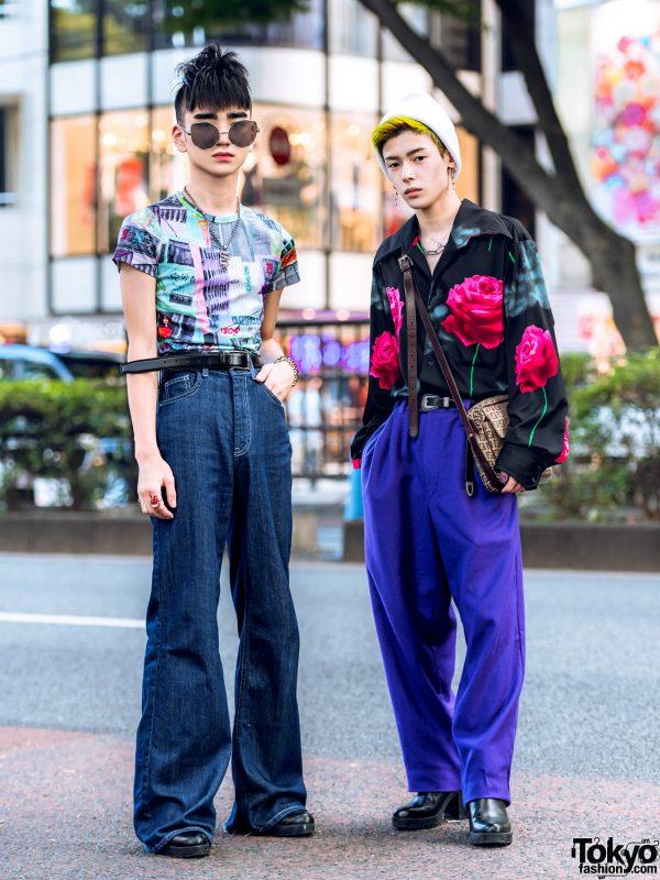 Harajuku Guys Streetwear Styles w/ Funktique Tokyo, Zara, Fendi, Bershka, Burberry & DW