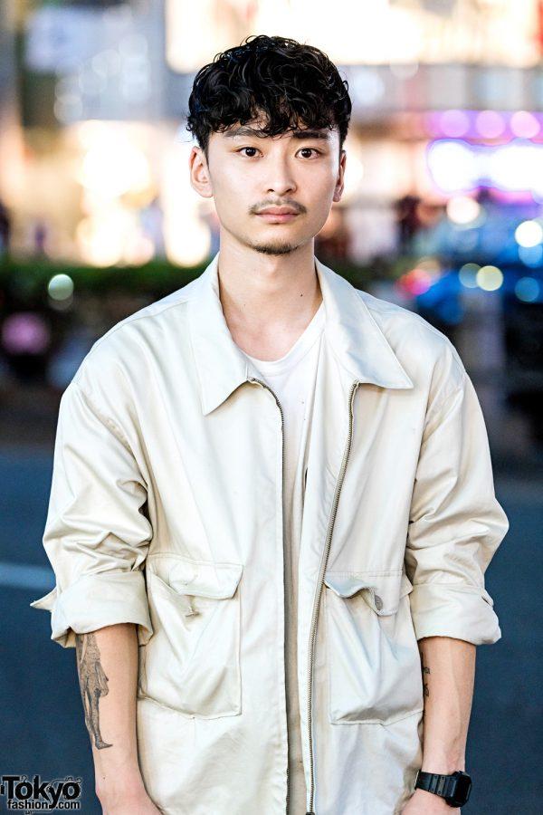 Japanese Hair Stylist In Casual Minimalist Menswear