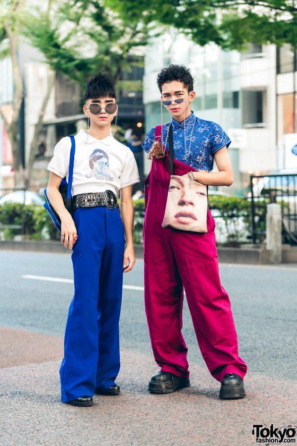 Harajuku Guys Streetwear Styles w/ MPQ, Bershka, MYOB Sweater, King Family Overalls, Demonia, Oh Pearl and Scooby Doo Backpack