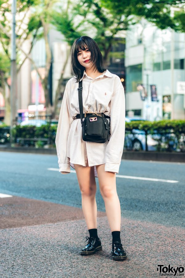 Harajuku Casual Vintage Street Style w/ Ralph Lauren, Dr. Martens & WEGO